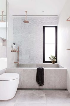 concrete bathtub and tile backsplash in modern sydney bathroom via inside out magazine. / sfgirlbybay concrete bathtub and tile backsplash in modern sydney bathroom via inside out magazine. Bathroom Goals, Bathroom Inspo, Bathroom Inspiration, Interior Design Inspiration, Bathroom Ideas, Design Ideas, Bathroom Designs, Bathroom Organization, Bathtub Ideas