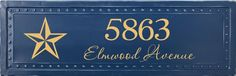 "Custom House Number Plaque: Designed in ""MyDesign Suite"" on my UL website"