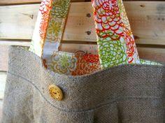 burlap bag by barefoot Surf boutique