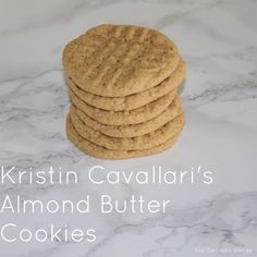 :: Clean Eating : Almond Butter Cookies :: - The Sarcastic Blonde - Shellie Deme Healthy Deserts, Healthy Sweets, Healthy Food, Healthy Eating, Healthy Recipes, Almond Butter Cookie Recipe, Root Recipe, Gluten Free Cakes, Healthy Cookies