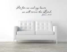As for me and my house we will serve the Lord Vinyl Wall Decal - Home Vinyl Wall Decal - Bible Verse Vinyl Wall Decal - Prayer Vinyl Decal