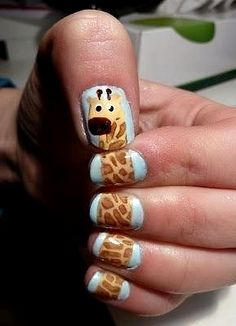 Something fun: giraffe nails