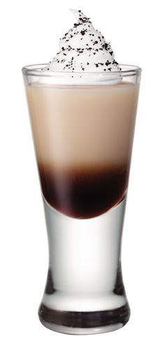"""Smirnoff Whipped Java 1 oz Smirnoff Whipped Cream Flavored Vodka .25 oz Bailey's Coffee Flavored Liqueur .25 oz coffee flavored liqueur Whipped Cream for Garnish Mix ingredients in a cocktail shaker with ice, strain into shot glass.  Garnish with Whipped Cream. Now, shake """"it"""" like a Polaroid picture. Serves 1"""