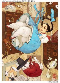 Алиса в стране чудес: иллюстрация корейской художницы Nayoung Wooh
