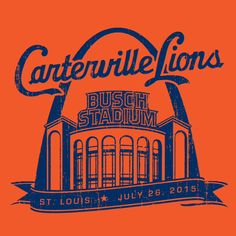 #Carterville Lions will be playing at #BuschStadium in #STL! Don't forget to order your commemorative t-shirts today! #Custom #Sports #Graphics #Shirts #TeamWork