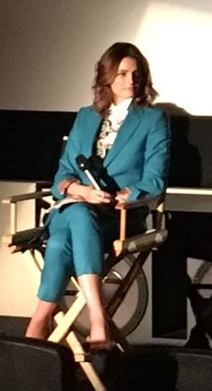 Stana Katic on stage during the #AbsentiaPanel at #LAScreenings - May 20, 2017