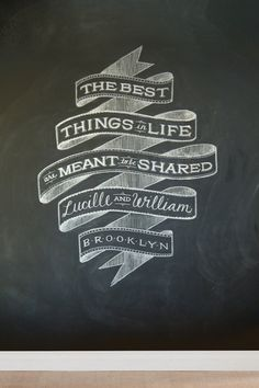 chalk board message