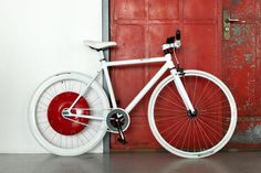 The Copenhagan wheel stores energy in a battery which can be used later on hills.
