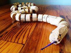 3 homemade wine cork snake craft http://hative.com/homemade-wine-cork-crafts/