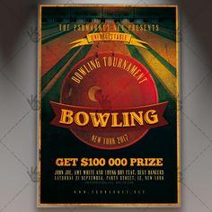 Bowling - Premium Flyer PSD Template.  #bowling #bowlingmatch #bowlingnight #bowlingtournament #classic #event #flyer #game #match #old #retro #sport #tournament #vintage  DOWNLOAD PSD TEMPLATE HERE: https://www.psdmarket.net/shop/bowling-premium-flyer-psd-template/  MORE FREE AND PREMIUM PSD TEMPLATES: https://www.psdmarket.net/shop/