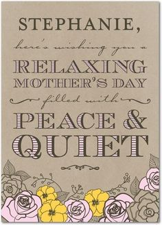 Pure Relaxation - Mother's Day Greeting Cards - Magnolia Press - Walnut - Brown : Front