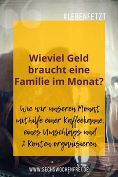 Wie viel Geld braucht eine Familie im Monat? Wir fragen: … How much money does a family need each month? We do not know either. We ask: how do we become happy with the money we have. Money Plan, Money Tips, Money Saving Tips, Budget Planer, Money Saving Challenge, Family Budget, Budgeting Finances, Investing Money, Finance Tips