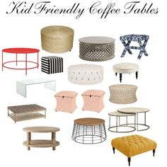 Kid Friendly Coffee Tables By Foreverfreckledblog On Polyvore Featuring  Interior, Interiors, Interior Design,