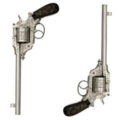 Rare Belgian engraved dragoon Gasser Revolver.