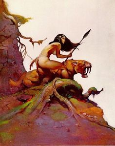 frank frazetta- illustrator Umm naked hunting. All the rage.