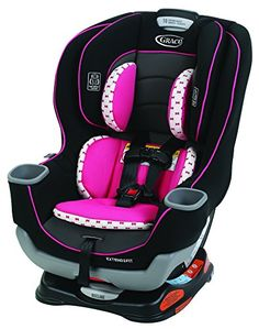 """Graco Extend2Fit Convertible Car Seat, Kenzie - The American Academy of Pediatrics recommends children ride rear-facing until at least 2 years of age. Extend2Fit features a 3-position extension panel that provides 5"""" of extra legroom allowing your child to ride safely rear-facing longer. The seat can be used rear-facing from 4-50 pounds and fo..."""