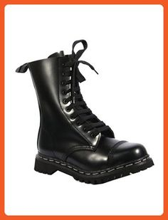 Steel Toe Combat Boots by Demonia. Steel toe 10 hole combat boots in black  or burgundy leather. No fuss 12782fc80843