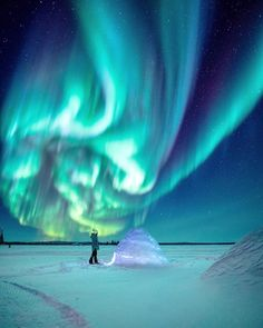 With a dash of luck and a dash of a polar vortex, we were blessed with a 10 out of 10 chance of seeing the Aurora borealis. The aurora. Whistler Canada, Yellowknife Canada, Northen Lights, Northern Canada, Northwest Territories, Nocturne, Canada Travel, Canada Trip, Winter Scenes