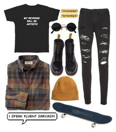 """aesthetically pleasing outfit"" by panicatthesocialevent ❤ liked on Polyvore featuring Dr. Martens, Alice + Olivia and H&M"