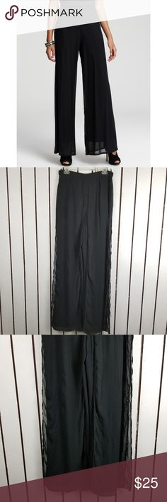 """Tadashi Shoji Palazzo pants  black 100% rayon Waist: 30"""" Inseams:33 """" Unless otherwise stated, all of my items are free from stains, rips or holes. All of my items are from smoke and pet free household Please feel free leave me any questions about my items Tadashi Shoji Pants Wide Leg"""