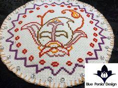 needlepoint ,needleart Persian Paisley