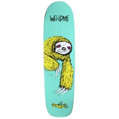845d08fa9c00 Welcome Sloth V2 On Waxing Moon Deck (Teal 8.5)  44.95