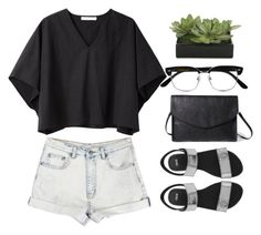 """""""39."""" by omgmoment ❤ liked on Polyvore featuring MTWTFSS Weekday, Apiece Apart, ASOS, Cutler and Gross, Forever 21 and Lux-Art Silks"""