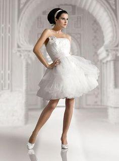A Line Sweetheart Strapless Taffeta Wedding Dress