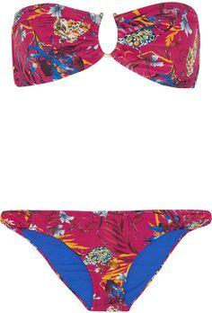 Pin for Later: 47 Maillots de Bain Soldés Que Vous Adorerez Porter Pendant Vos Vacances  Matthew Williamson Bikini bandeau imprimé (265€, soldé 133€)