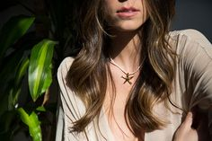 Gold Dipped Starfish Necklace