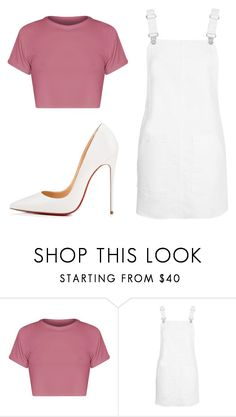 """""""Untitled #39"""" by iamalyceparis on Polyvore featuring Topshop and Christian Louboutin"""