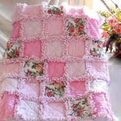.pink rag quilt