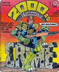 Judge Joseph Dredd is a fictional character whose comic strip in the British science fiction anthology 2000 AD is the magazine's longest running, having been featured there since its second issue in 1977. Dredd is an American law enforcement officer in a violent city of the future where uniformed Judges combine the powers of police, judge, jury and executioner. Created by writer John Wagner and artist Carlos Ezquerra, although editor Pat Mills also deserves some credit for early development.