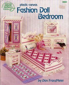 Fashion Doll Bedroom In Plastic Canvas For by grammysyarngarden, $9.00