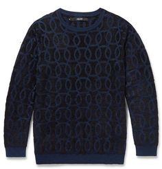 Sibling Jacquard-Knit Sweater   MR PORTER