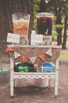 Red + white Sangria - Bohemian Portland Park Wedding by Terra Rothman Photography - via ruffled