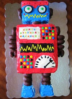 Robot Birthday Cake-perfect for my nephew.