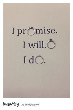 Instead write I do promise to love you with the rings in do, promise, and love!