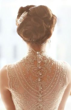Phenomenal details on an illusion back dress -- 28 kinds of perfection