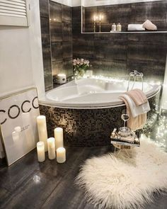 First home pictures, beautiful bathrooms, dream bathrooms, modern bathroom, Bathroom Spa, Small Bathroom, Bathroom Remodeling, Remodeling Ideas, Master Bathroom, Mirror Bathroom, Gold Bathroom, Bathroom Wallpaper, Bathroom Layout