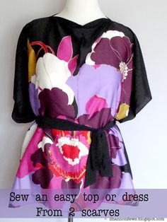 Diy projects diy dresses diy tutorials diy fashion diy clothing sew an easy top with two scarves diy clothes refashionsewing diysewing craftssewing ideasdiy sewing projectsfashion sewingdiy solutioingenieria Gallery
