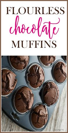 These are a great treat for the family and surprisingly healthy! Low carb and chocolate, kid friendly snack or breakfast. Gluten Free Desserts, Healthy Desserts, Easy Desserts, Gluten Free Recipes, Healthy Treats, Healthy Baking, Healthy Recipes, Healthy Food, Flourless Chocolate