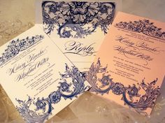 Wedding Invitation Duchess Collection by lisasamartinodesign