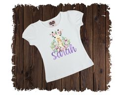 Ballet Class Slippers Personalized Custom Printed T-Shirt - Available in Long or Short Sleeves Boutique Shirts, Watercolor Print, Elephant Watercolor, Flower Watercolor, Make A Wish, Short Sleeves, T Shirts For Women, Printed, Cotton