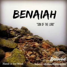 Beloved Baby Names: Beloved Blog's Name of the Week: Keturah and Benaiah