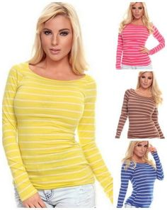 Great top for cooler weather. Spring Fashion Long Sleeve striped top