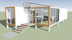 Amplia vista previa del modelo 3D de container house