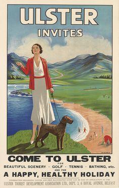 MCKIBBIN (DATES UNKNOWN) ULSTER INVITES / COME TO ULSTER. Circa 1930.