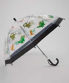 Look at this Clear & Orange Dinosaur Umbrella on #zulily today!