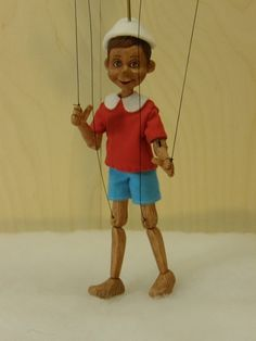 pinocchio marionette limited edition by AMCreatures on Etsy